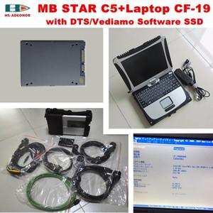 2020 for benz obd2 connector sd c5+Laptop CF-19+2020.06V Software SSD obd 2 car diagnostic tools mb star c5 car tester
