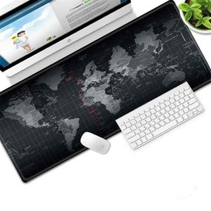 Lock edge Gaming Gamer Mouse Large Mouse Pad Old World Map Laptop Computer Mousepad Keyboard Mats Office Desk Resting Surface Mat