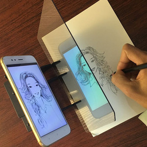 Kids LED Projection Drawing Copy Board Projector Painting Tracing Board Sketch Specular Reflection Dimming Bracket Holder