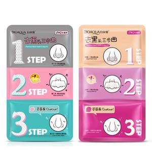 BIOAQUA Yüz Bakımı Burun Maskesi Akne Remover Temizle Güzellik Temiz Kozmetik 3 Adım Kit kaldır