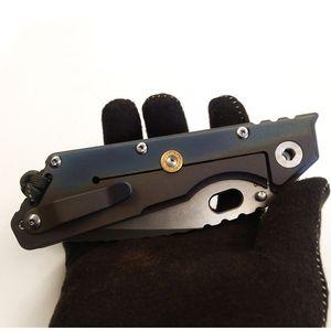 """أفضل EDC ميك ستردير مخصص MSC XL # 9 تانتو سكين ملون التيتانيوم مقبض 4.25 """"الحجري S35VN بليد كابوس أدوات سكين للطي"""