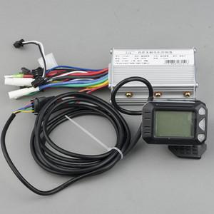 Accessoires vélo électrique 24V 250W 350W 36V DC 48V mode e scooter Brushless Contrôleur de moteur avec LCD pour ebike