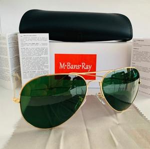 2020 neue Luxus-Ray polarisierten Sonnenbrillen Männer Frauen Pilot Sonnenbrille UV400 Brillen Sonnenbrillen Treiber Sperren Metallrahmen Polaroid Lensca7e #