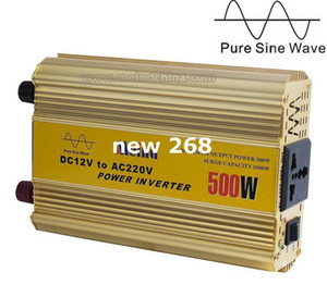 Freeshipping 500W Power Inverter Onda sinusoidale pura 12V DC a 220V AC Convertitore per auto Inverter AC Alimentatore Meind