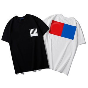 Novas Designer camisetas Mens Vestuário Marca Tops camisa dos homens Camiseta Moda Verão Tide Braned letras impressas Luxo Roupa preta Branco