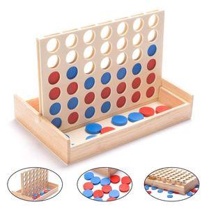 Line Up Classic Family Board Juguete educativo divertido para niños Niños Niños Chicas Regalos Cuatro en fila Juguete de madera del juego del bingo