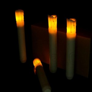 led candles Electronic Taper Candle Operated flameless candles For Wedding birthday candles Decorations 12pcs 1setT2I5675