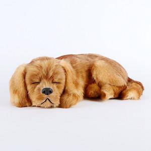 Имитация животных собака украшения спящая собака модель просто мода творческий украшения дома милые ремесла 35x25x14 см DY80046