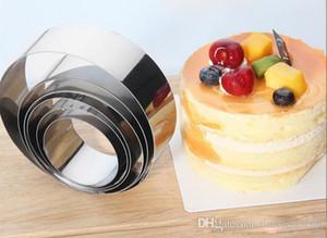aço inoxidável bolo redondo molde Multifunction mousse anel molde biscuit DIY panificação ferramentas de 6 peças / set