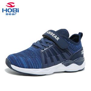 أحذية الأطفال الرياضية للبنين المدرب فتاة الأطفال أحذية رياضية أحذية الأولاد الجري الأحذية شبكة تنس عارضة الانزلاق على Hobibear H7617