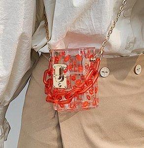 Designer Women's Bag 2020 Summer New Arrival Fashion Chain Shoulder Messenger Bag Wild Mini Jelly Bag
