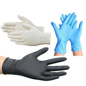 Tek kullanımlık eldivenler Koruyucu Nitril Eldivenler Evrensel Ev Bahçe Temizleme Ev Temizleme Kauçuk Lateks Renkli S / M / L / XL