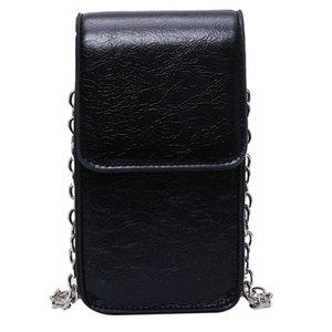 191.116 iVog Neue Ankunft Jeden Tag Female Mini Messenger Umhängetasche Handtasche Schwarz-Kette PU-Handtaschen für Frauen 2019