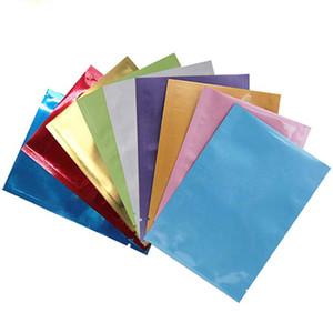 Металлическая фольга Mylar Open Top пломбируемые вакуумные мешки Тепло Уплотнительные мешки Алюминиевая фольга мешки для хранения продуктов Упаковка с Tear вырезами