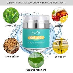 Hochwertige MABOX-Retinol 2,5% Feuchtigkeitscreme-Gesichtscreme und -auge Vitamin E Beste Nacht- und Tages-feuchtigkeitsspendende Sahne.
