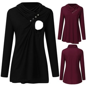 Maternity Breastfeeding Sweater Women Long Sleeve Solid Nursing Pullover Casual Tops Ropa Invierno Mothers Winter Clothing S-XL