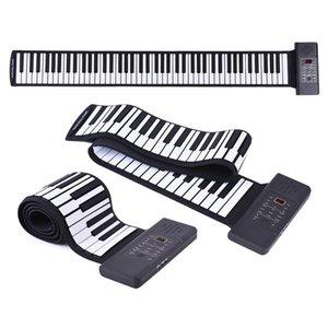 Silicon 88 chiavi mano rotola in su della tastiera di piano elettronico USB Built-in agli ioni di litio e dell'altoparlante forte con un pedale / USA SPINA UE