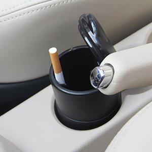 vente à bas coût voiture créatif petit cendrier haute retardateur de flamme PBT avec voiture lampe de couverture des produits d'intérieur cendrier de gros