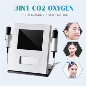 2019 أحدث 3 في 1 الأوكسجين العلاج آلة الموجات فوق الصوتية RF العناية بالبشرة CO2 فقاعة الأكسجين حب الشباب Waesen استخدام صالون للبيع