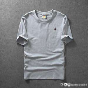 Erkek tasarımcı t shirt Bir BANYO Gömlek APE Nakış Maymunlar kafa Saf renk şort hip hop streetwear Için Yaz korku tanrı joggers