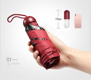 4styles Capsule Regenschirm Ultra Light Mini Folding Umbrella Compact Taschenschirm Windsicher Regen Sonnenschirme für die Frau Kind FFA3196