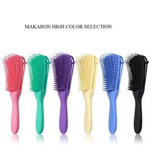 Scalp massage peigne brosse brosse de poils naturels Détard de déchets enchevêtrement peigne peigne puissant conception antidérapante pour curling ondulé cheveux longs