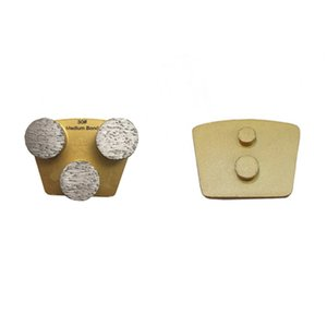 Two Pins Redi Lock Grinding Shoes High Performance Trapezoid Concrete Grinding Pad with Three Round Segments 12PCS