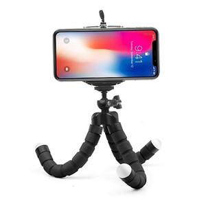 Mini flexível Sponge Octopus Tripé para iPhone Samsung Xiaomi Huawei Mobile Phone Smartphone tripé com Bluetooth obturador remoto