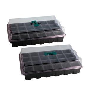 24 Клетки Seed Hole завода Лоток пластикового питомник горшок с крышкой сад Прорастание Kit Grow Box
