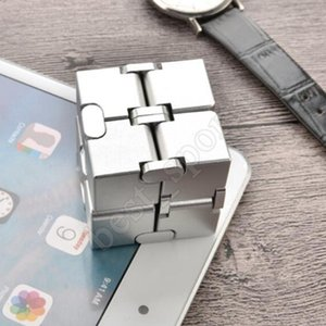 15 styles Alloy infinite magic cube decompression artifact creative trembling toy flip pocket box Intelligence toys ZZA1548 40pcs
