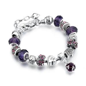 925 margherite argento margherite vetro murano perline fascino europeo adatto braccialetti di fascino bracciali stile 20 + 3 cm 11 colori moda