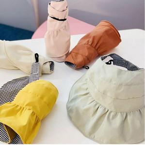 Yaz Güneş Şapka Çocuk Hollow Üst Bebek Açık Plaj Siperlik Çocuk Casual Gölge Top Hat Güneş kremi Bonnet Anne ve kızı Şapka boşaltın Caps
