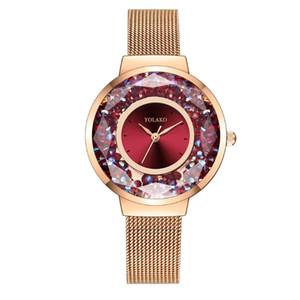 Women Watch Moda Celular Rhinestone elegante Magnet Buckle Rose Gold pulso Ladies novíssimo Magnetic presente Relógios