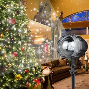 미니 크리스마스 강설량 프로젝터 야외 IP65 움직이는 스노우 가든 레이저 프로젝터 조명 디스코 크리스마스 파티