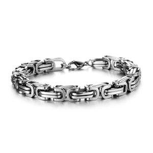 oulai777 men Byzantium bracelet stainless steel Cuba chian on hand charm male accessories simple manual fasion jewellery 2020