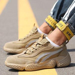 Zapatos nuevos hombres Manlegu seguridad en el trabajo con puntera de acero indestructible las zapatillas de deporte Zapatos de seguridad Calzado de trabajo a prueba de pinchazos zapatillas de Trabajo