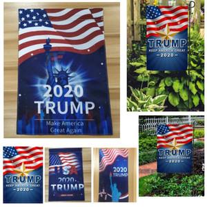 حار 2020 انتقال الحرارة انتخابات الرئاسة الأمريكية ترامب راية حديقة أعلام راية TRUMP 30 * 45CM 4 أنماط HH9-2616