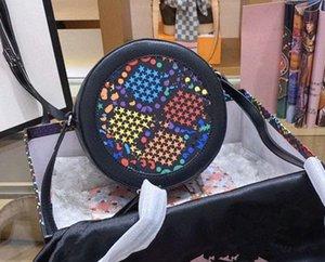 New Female Bag Circular Handbag Shoulder Mulheres Backpack Oblique Satchel Rodada Cakes Pacotes bolsas Bolsas, Malas