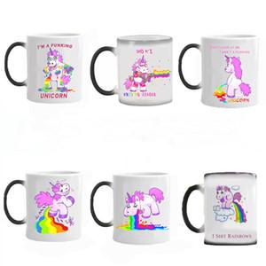 Unicorn Mug Arcobaleno Cavallo tazze tazza di ceramica Unicorn tazza di caffè Cute Cartoon calore della tazza sensibile Cambiare Color Magic Tazze