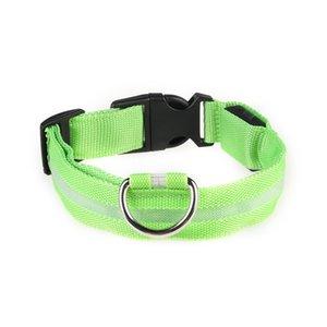 Pet Colar New Chong Wuhua Dog Harness metal Led Collar Female Dog Pet Harness Supplies New # 327