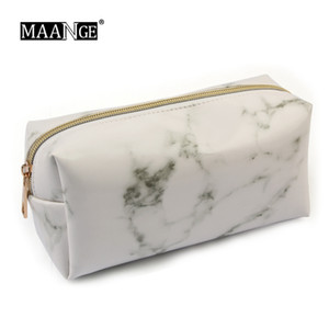 Marbling PU Brush Bag Trucco Pencil Case Marmo Cosmetici Borsa Pouch Beauty Make Up Brush Holder Sacchetto della matita Strumenti per la scuola