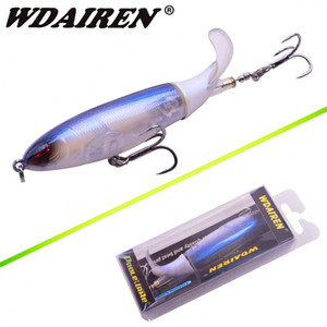 Topwater Fishing Lure 10cm 13.5g Whopper Popper Appât Artificiel Dur Plopper Doux Rotatif Queue De Pêche S'attaquer Geer