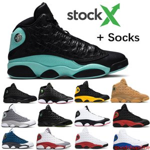 Men 13 Island Green Bred Chicago Flint ATMOSPHERE GREY Mens Basketball Shoes Lakers 13s He Got Game Melo DMP Playoff Hyper Royal With