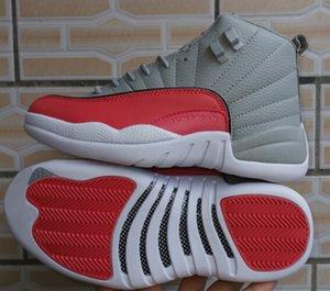 2019 Neueste 12 Wolf Grey Vivid Pink Männer Frauen Basketball Schuhe 12 GS Grey Pink 510815-060 Outdoor Designer Trainer Sportschuhe