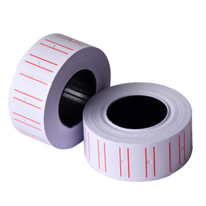 50Roll Self Adhesive Price Label Sticker Paper Price Labels Tag Single Row for Price Labeller Suitable for Grocery Supermarket