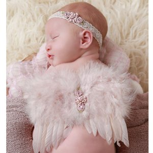 Set Newborn Photography Props Crochet Costume Cute Angel Wing Photo Baby Girls Clothes Outfits Fotografia Accessories Pink