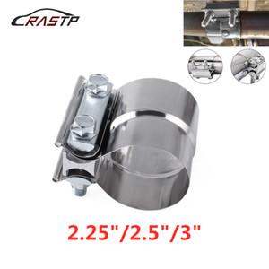 """RASTP-2.25"""" 2.5"""" 3.0"""" Exhaust inoxidável butt manga de escape da braçadeira Car Joint faixa de fixação Correia de escape Grampo para Silenciador RS-CR1014"""