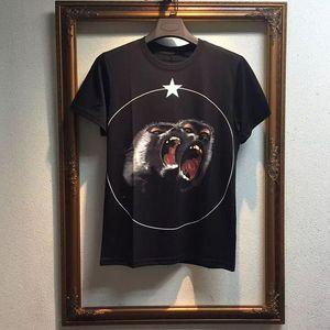 Moda Mens estilista camiseta de manga curta Homens Mulheres alta qualidade t shirt dos homens camisetas macaco irritado Impresso mangas curtas S-XL