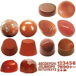 3D policarbonato Chocolate Bar Form Bandeja Moldes para Molde Chocolate moldes de plástico Baking Mould Pastelaria Padaria Bolo Bakeware Ferramentas