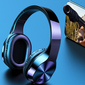 T5 Wireless Headphones TF di sostegno delle cuffie di 3.5mm Bluetooth luce LED Jack 9D auricolari stereo di musica Cuffie con il Mic